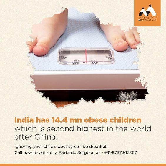 India has 14.4 Million obese children