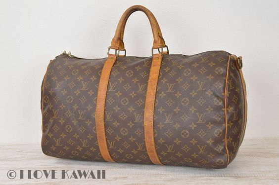 Louis Vuitton Monogram Keepall 50 Bandouliere Travel Bag M41416
