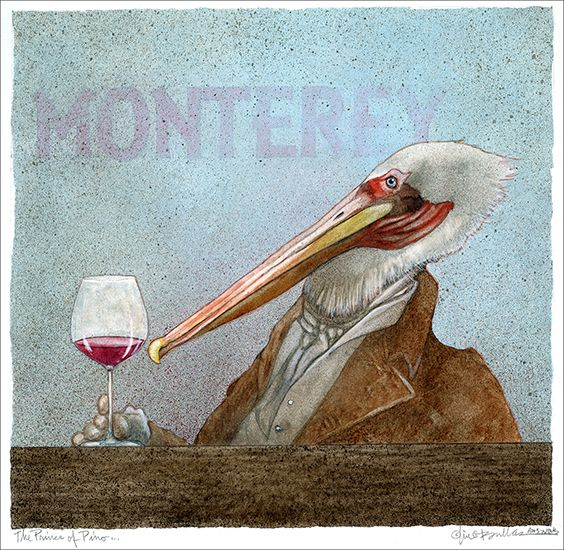 Prince Of Pinot Will Bullas Sign Art Cocktail Art Art Prints