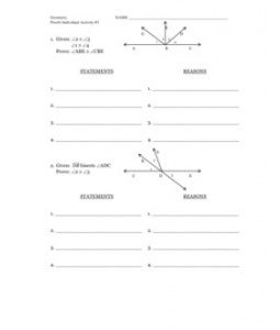 Printables Beginning Geometry Worksheets worksheets on pinterest geo proofs worksheet