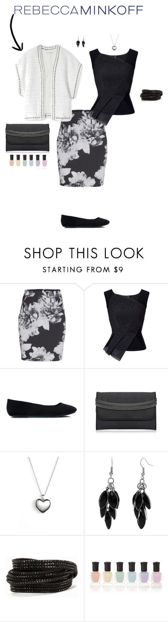 """""""Untitled #7436"""" by erinlindsay83 ❤ liked on Polyvore featuring Rebecca Minkoff, Roland Mouret, Pandora, Alexa Starr, Pieces, Deborah Lippmann, women's clothing, women, female and woman"""