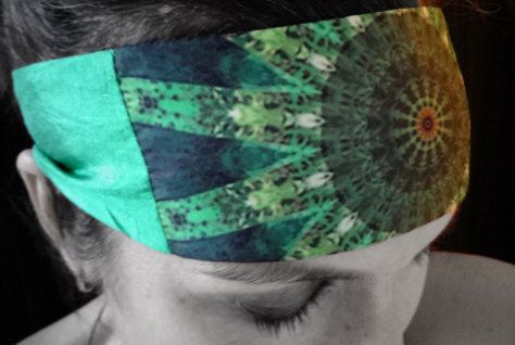 The bandanas/headbands in this limited edition Anahata collection each feature one of my original mandala chakra images. All of the mandalas in this series are digital reconstructions of a single photograph of an echinacea bud from my garden. Custom printed onto 100% polyester, this fabric allows me to obtain the most vivid color and sharpest reproduction of my images as well as being beautiful, light and very comfortable to wear.