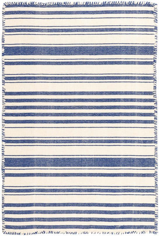 Stripe Cobalt Woven Cotton Rug