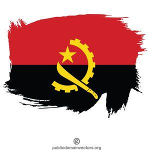 Publicdomainvectors Org Painted Flag Of Angola Angola Flag Painting Flag