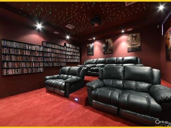 Amazing #home #theatre room!
