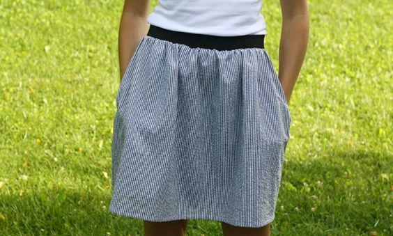 Simple Summer Skirt Tutorial