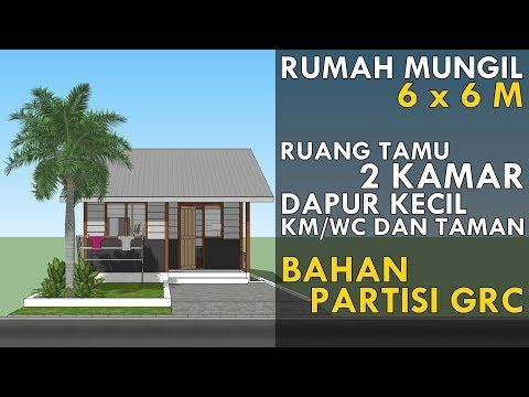 Cheap House Design 6 X 6 M With 2 Bedrooms Youtube Desain Rumah Rumah Desain
