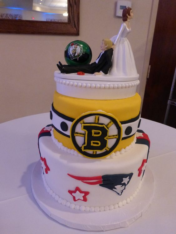 Boston Sports Teams Themed Groom S Cake Front View With