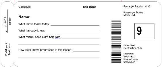 ... Exit Ticket Template Doc   Google Search Exit Cards Pinterest   Exit Ticket  Template ...  Broadway Ticket Template