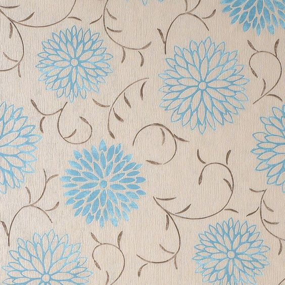 Teal and beige brown  Romantic  wallpaper   B Q. Teal and beige brown  Romantic  wallpaper   B Q   wallpaper for