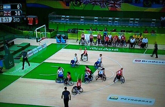GB v Argentina Wheelchair Basketball Paralympics.  GB 33 - 6 Argentina