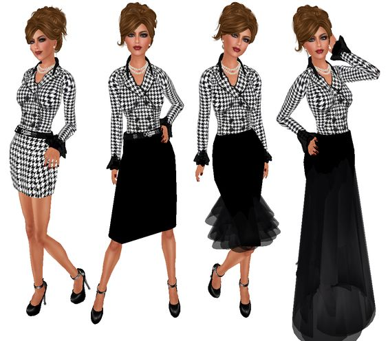 designer skirts | ... Designs - Swirly Black & Houndstooth Tops ...