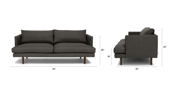 Dark gray sofa 3 seater solid wood legs article burrard modern furniture graphite scandinavian furniture and sofa sofa