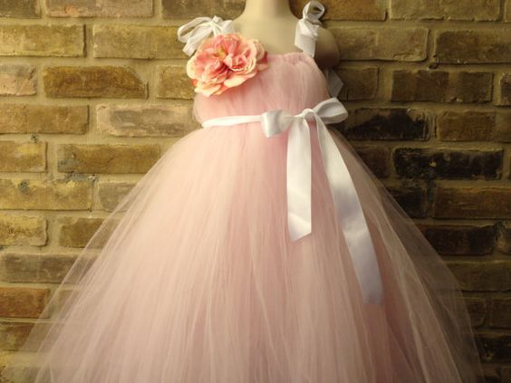 Pink and White Princess TuTu dress for flower girls #etsy