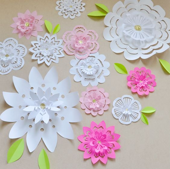 If you can make a paper snowflake, you can shower mom with flowers in a fun way this Mothers Day.