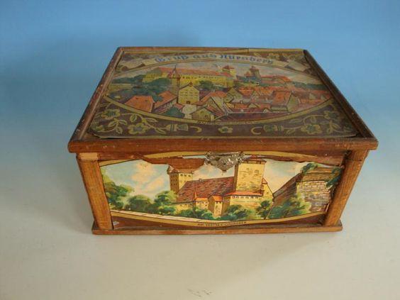 0514A1-341: Alte Lebkuchendose Nürnberg Holz wohl um 1930 • EUR 55,00 - PicClick…