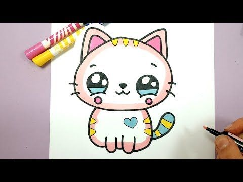 Youtube Dessin Chat Facile Dessin Kawaii Dessin Facile Animaux