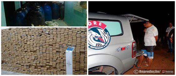 Mais de 1,5 tonelada de maconha é apreendida na Paraíba