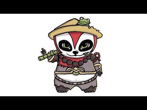 Cara Menggambar Akai Tank Panda Mobile Legend Dengan Style Chibi Atau Kartun Youtube Chibi Cara Menggambar Kartun