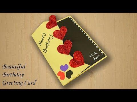 Beautiful Birthday Greeting Card Idea Beautiful Handmade Birthday Card Greeting Cards Handmade Birthday Simple Birthday Cards Card Making Birthday