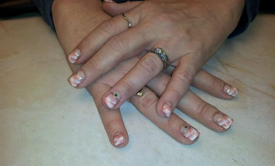 Acrylic paint French manicure