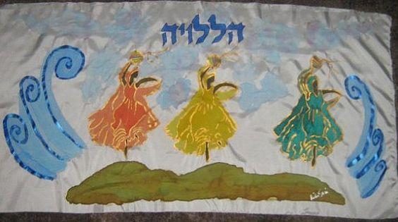 Halleluyah Dance Miriam leading the dance at the sea by rivkasari, $40.00 www.rivkasari.com