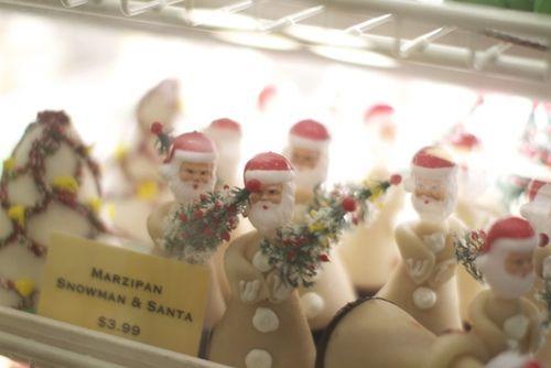 Marzipan Snowman and Santa