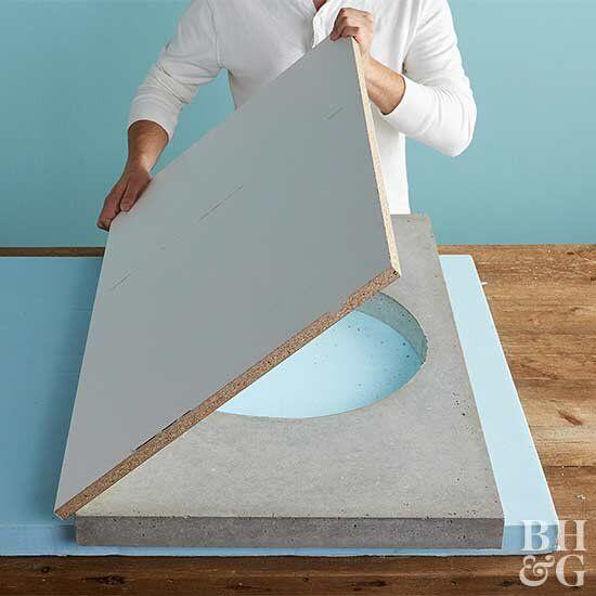 How To Make A Concrete Vanity Top Concrete Plastic Drop Cloth