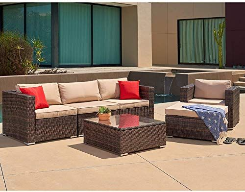 Buy Suncrown Outdoor Furniture Sectional Sofa Chair 6 Piece Set