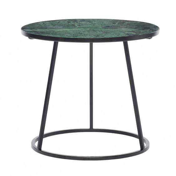 Table basse m tal noir et marbre vert h bsch table for Table basse marbre noir