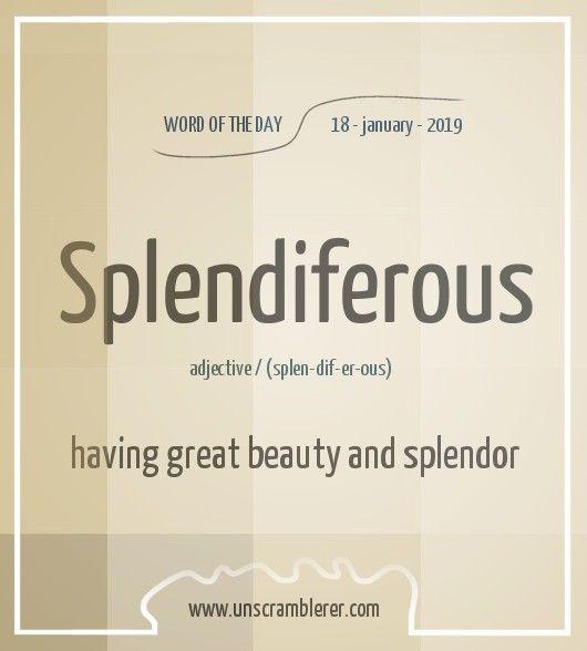 Splendiferous Good Vocabulary Words Interesting English Words Uncommon Words