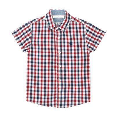 J by Jasper Conran Designer boy's blue gingham checked shirt- at Debenhams.ie