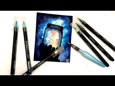Live How To Paint A Jar Of Stars Arteza Watercolor Brush Pens