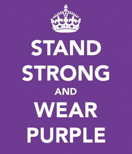 Stand Strong and Wear Purple