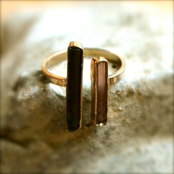 Ring: Cute Rings, Black Rings, Black Pink, Gold Rings, Simple Gold Ring, Jewelry Rings