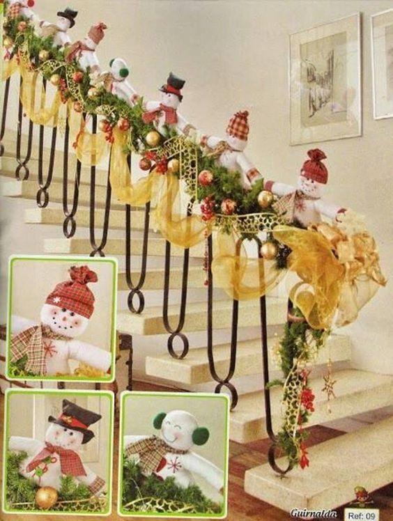 Decoracion de escalera navidad pinterest for Decoracion de escaleras
