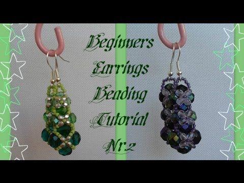 Beginners Earrings Tutorial *(2)*  Beading Tutorial by HoneyBeads// Pretty beginner projecgt