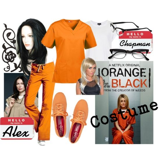 Orange is the New Black Costume, Piper Chapman & Alex Vause by april golightly, #halloween #Polyvore: