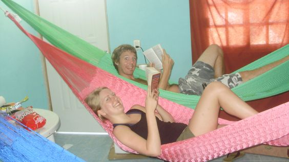 Playa del Carmen, Mexico. Fun with friends! The room was full of hammocks :-)