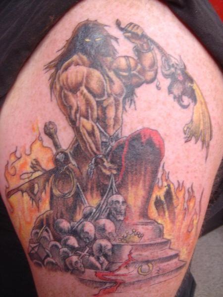 my MANOWAR/Ken Kelly tattoo tattoo by Joe Evans owner of ...