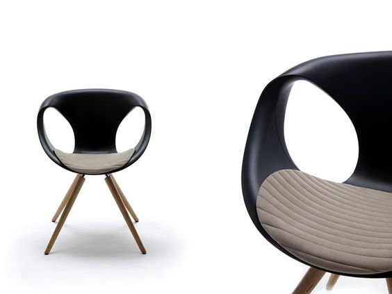 Trestle-based Freeform advanced easy chair UP CHAIR by Tonon | design Martin Ballendat