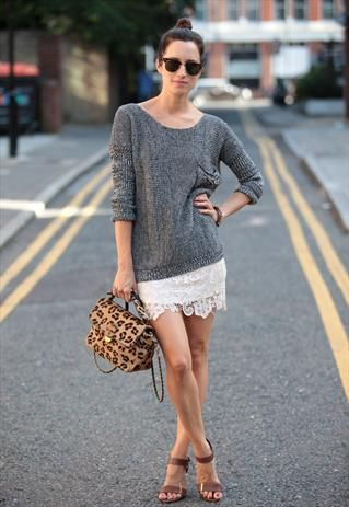 Jumper is perfect, skirt is perfect