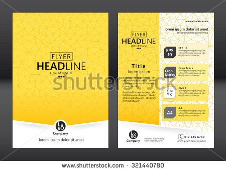 Brochure Template Design Geometric Pattern Square Vector