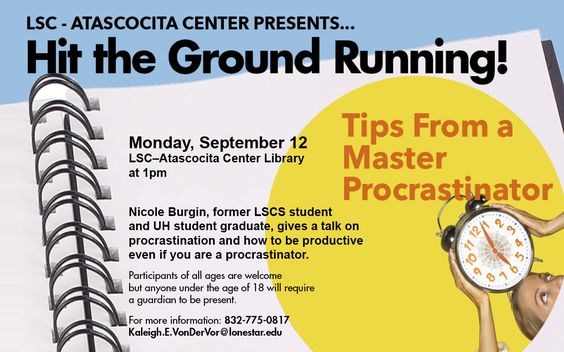 #LSCAtascocita presents: Hit the Ground Running! 9/12, 1pm at LSC-Atascocita Library Be a Mentor, Earn a living allowance and ear and education awards, Become an AmeriCorps member #StartCloseGoFar