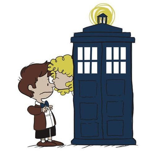 Doctor and River Song Peanuts' style