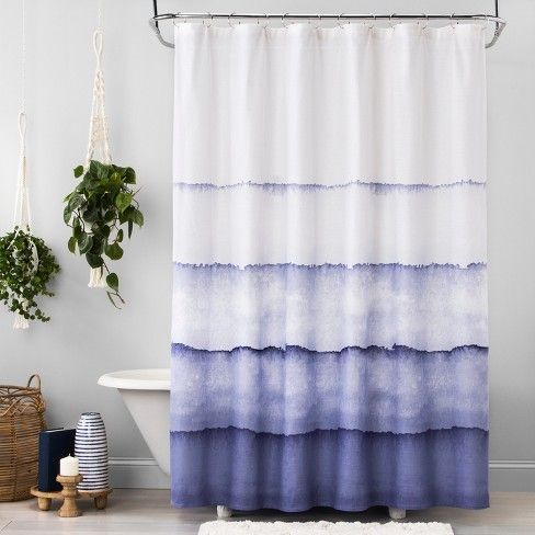 Watercolor Dip Dye Shower Curtain North Sky Blue Opalhouse Target Target Shower Curtains Watercolor Shower Curtain Blue Shower Curtains