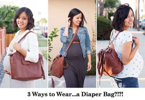 The Diaper Bag I'd Wear Anywhere (maternity style)