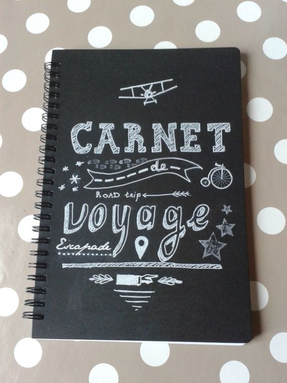 carnet de voyage homemade chalkboard pinterest fait maison souvenirs et voyage. Black Bedroom Furniture Sets. Home Design Ideas