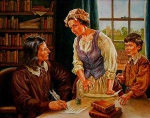 Samuel Wesley Sr. Susana Wesley Samuel Wesley Jr. Painting by  Richard G. Douglas: