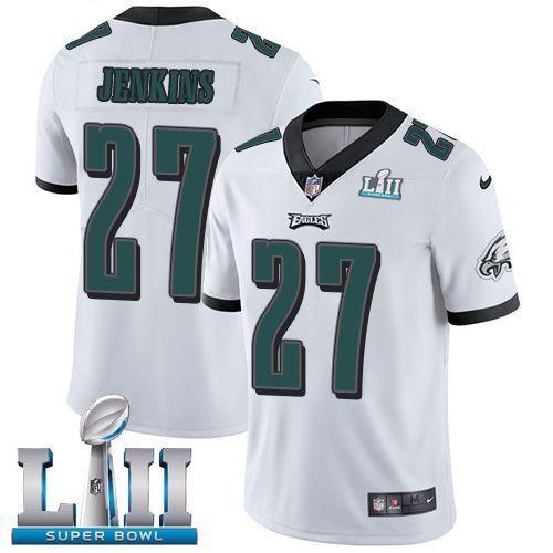 Men Philadelphia Eagles 27 Jenkins White Limited 2018 Super Bowl ...